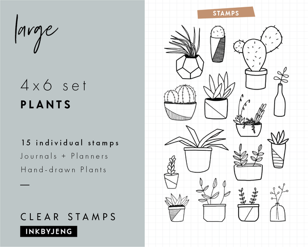 "Plants - 4x6"" Clear Stamp Kit (042)"