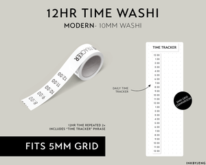 Washi Tape 10mm - Time Tracker Vertical - (W10 | 089)