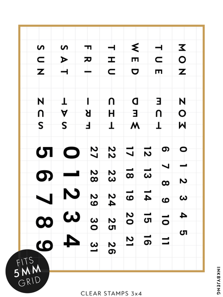 "Habit Tracker Modern - 3x4"" Clear Stamp Kit (033)"