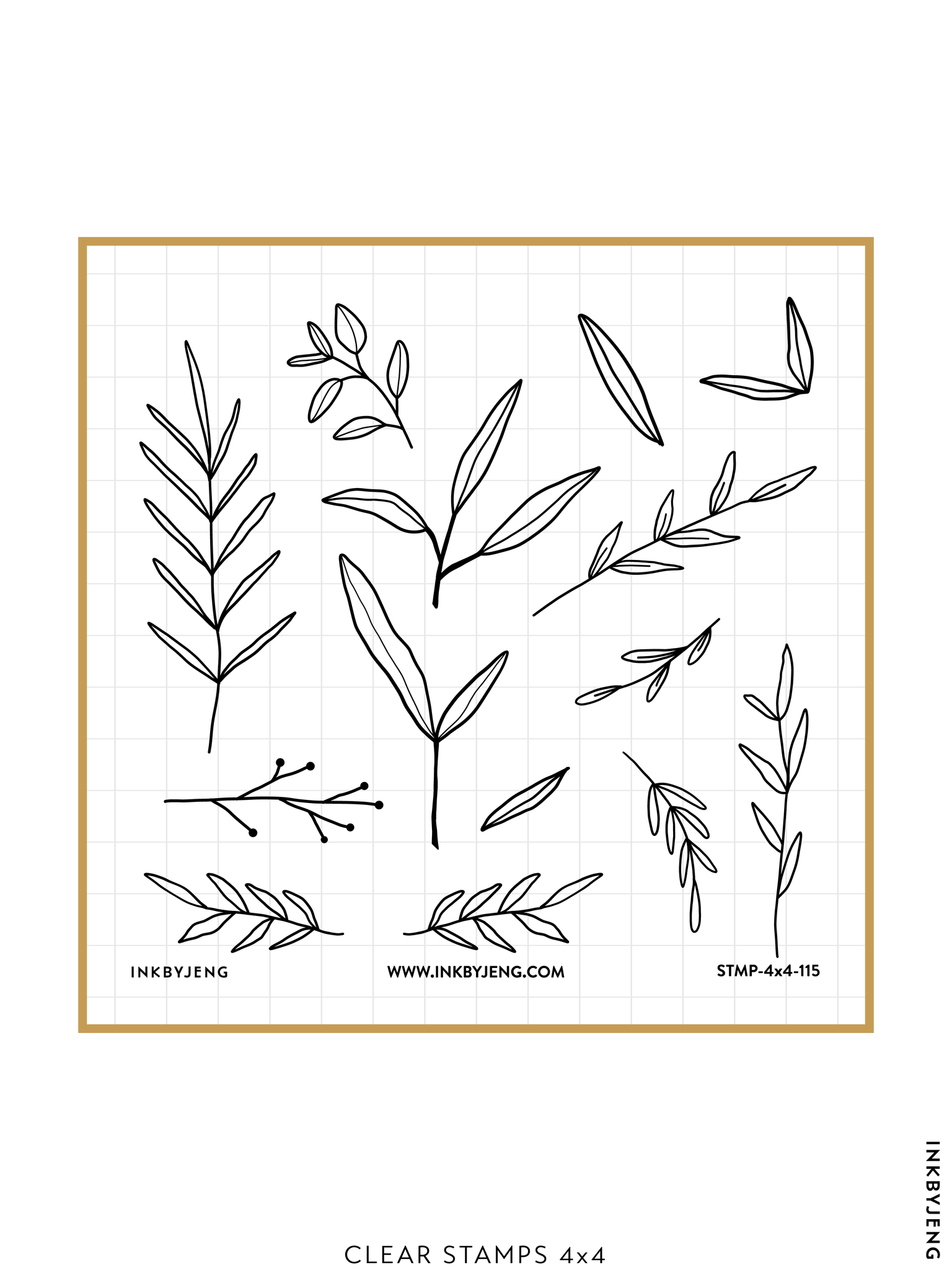 "Leaves - 4x4"" Clear Stamp Kit (115)"