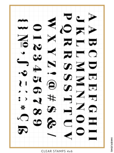 "Serif Alphabet - 4x6"" Clear Stamp Kit (040)"