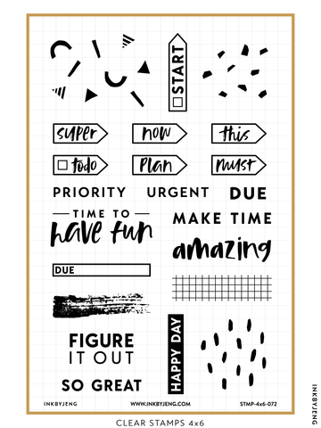 "Planning is Fun - 4x6"" Clear Stamp Kit (072)"