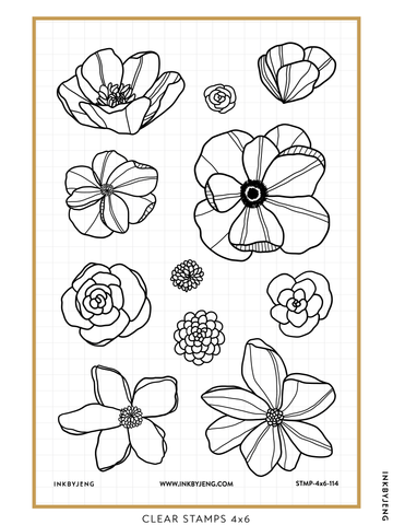 "In Bloom - 4x6"" Clear Stamp Kit (114)"
