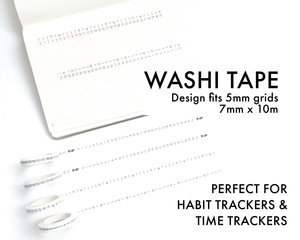 Washi Tape - Trackers and Calendars - 7mm rolls (W7)