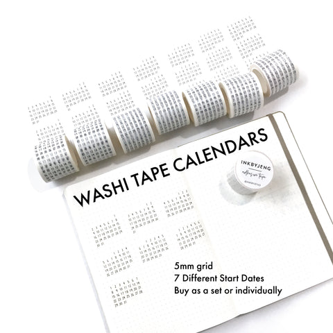 Calendar Washi Tape - 40mm rolls (W40)