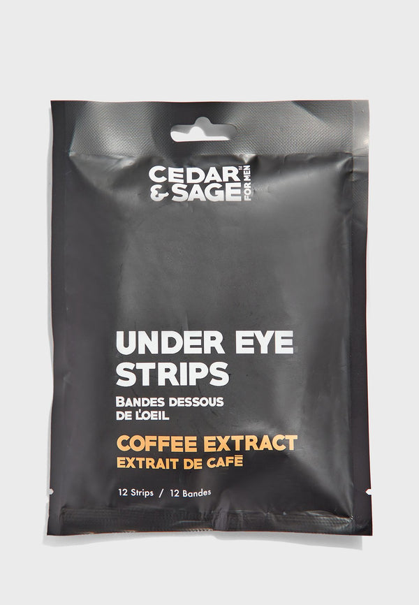 Cedar and Sage Under Eye Strips- Coffee Extract