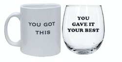 Gift Set Coffee Mug & Stemless Wine Glass
