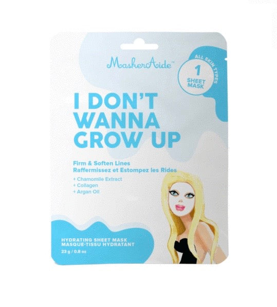 MaskerAide I Don't Wanna Grow Up Sheet Mask