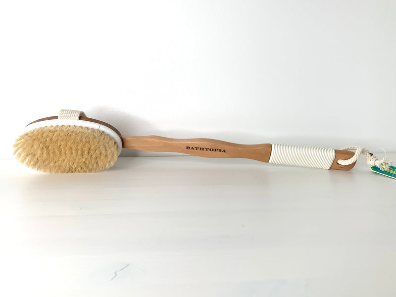 Bathtopia Wooden Back Brush