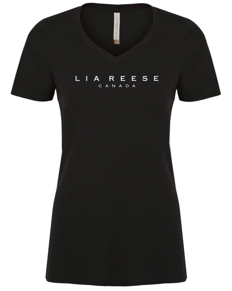 Lia Reese Canada Cotton Ladies V-Neck Tee
