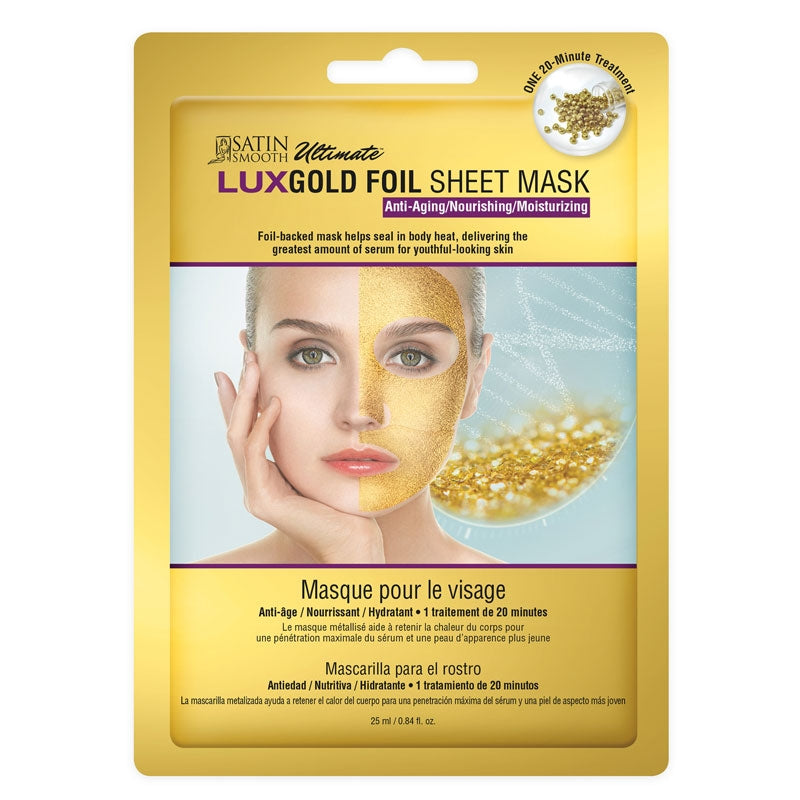 Satin Smooth LUXGold Foil Sheet Mask