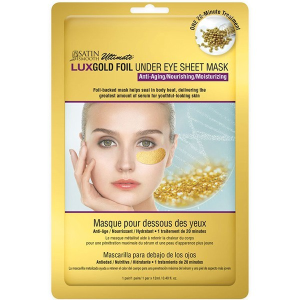 Satin Smooth LUXGold Foil Under Eye Sheet Mask