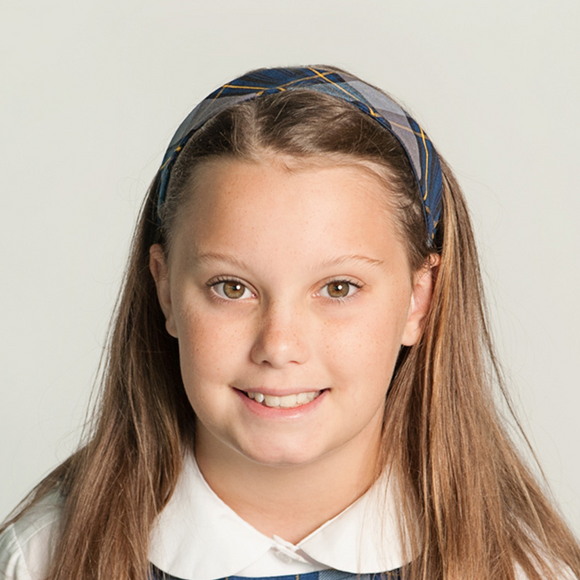 #57 Uniform Plaid Headband for School