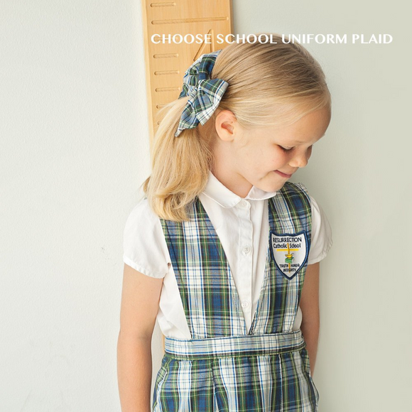 School Uniform Large Plaid Bow (Various Plaids)