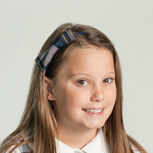 School Uniform Bow Headband - Royal Blue Black & Gold #13
