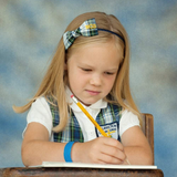 Plaid Uniform Headband Plaid #80 Personalized with School Letters