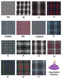 School Uniform Plaid Bow Scrunchies - Plaid #80