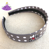 East Central Hornet Grey Polka Dot Headband