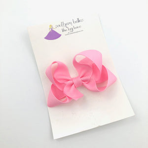 Pink Extra Small Boutique Bow - Alligator Clip