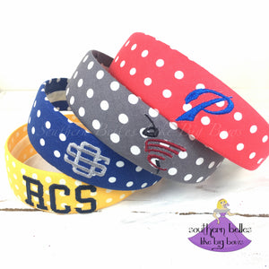 Local School Spirit Polka Dot Headbands - RCS