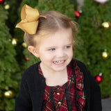 Big Gold Glitter Hair Bow for Toddler Girl