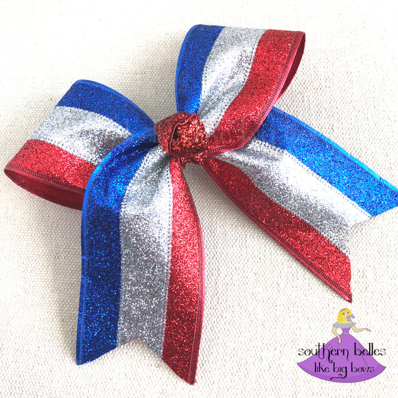 Fourth of July Cheer Bow