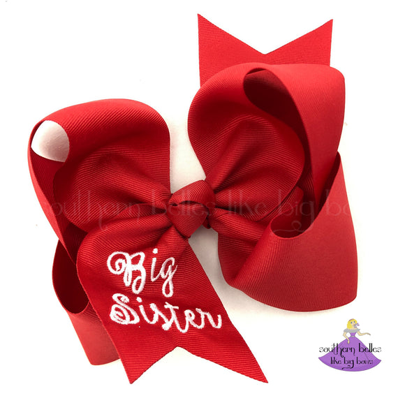 Big Sister Hair Bow Going Home Gift For Baby's Big Sister