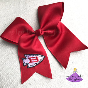 Red Biloxi Cheer Bow