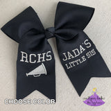 Black Cheer Bow for Little Sister Cheer Bow