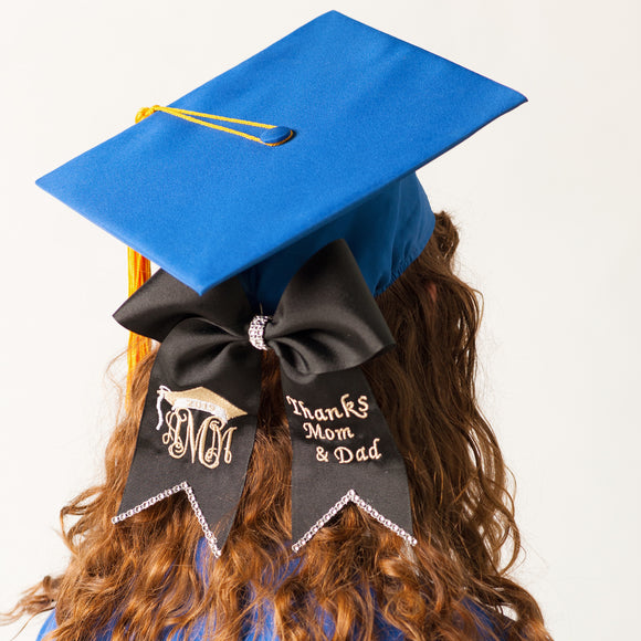 Custom Graduation Cap Bow (Multiple Color Options)