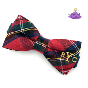Christmas Tartan Bow Tie for Boys