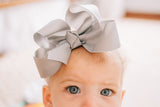 Big gray baby bow