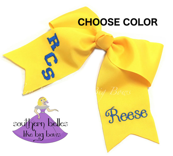 Custom School Spirit Cheer Bow