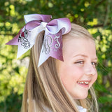 East Central Glitter Cheer Bow