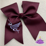 Maroon East Central Cheer Bow