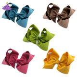 Solid boutique bows in new colors for fall - blue peacock, brown, olive green, cranberry, mustard yellow gold, orange pumpkin spice