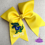Yellow Gautier Gator Cheer Bow