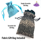 Velvet Scrunchie Gift Set for Teen Girl with Personalization Options in Gift Bag