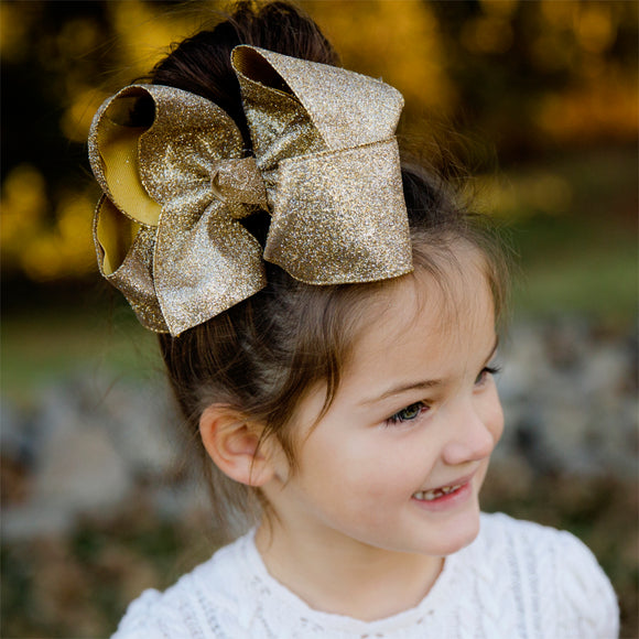 Big Gold Glitter Bow