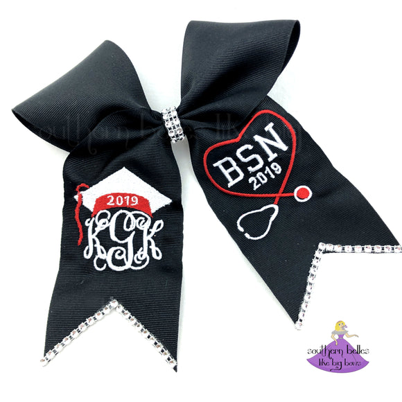 Nurse Graduation Cap Bow - 2020 (Multiple Colors)