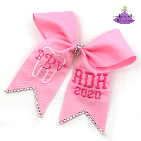 Dental Degree Graduation Cap Bow (Multiple Colors)