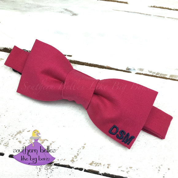 Bow Tie with Corner Monogram