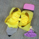Personalized Back to School Pencil Bow