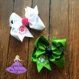 Personalized Paw Print Hair Bow Wildcats