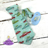 Christmas Necktie Pacifier Clip for Baby Boy