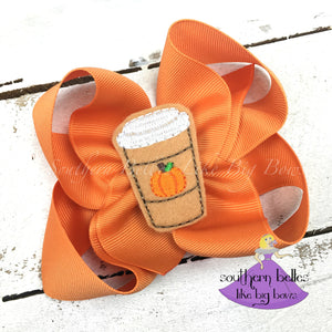 Pumpkin Spice Latte Hair Bow