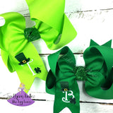 Custom Boutique Bows for St. Patrick's Day