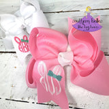 Easter boutique bows with bunny monogram