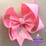 Princess Bow with Initial Letter and Tiara