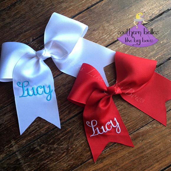 Monogrammed Cheer Bow with Name